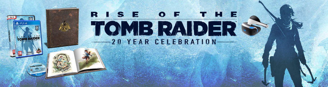 RISE OF THE TOMB RAIDER: 20 Years Celebration<br /><span><a href='http://www.tombraider-game.de/news/2016/07/19/rise-tomb-raider-20-year-celebration-termin-mehr-fuer-ps4'>Ab 11. Oktober 2016 nur für PS4 & PC!</a></span>