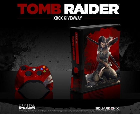 Xbox360 Giveaway TOMB RAIDER Design