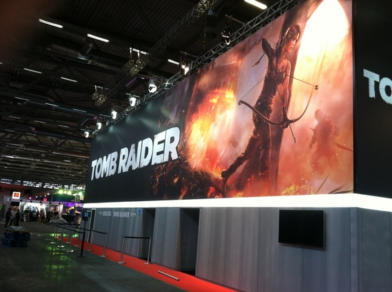 TOMB RAIDER Stall GamesCom 2012 Cologne